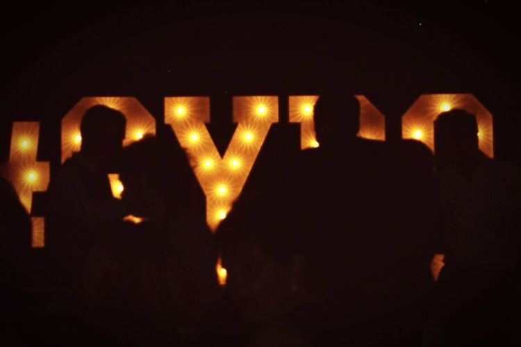 Getyourbellyout Gybo Sign Light Silhouette Kiss Party
