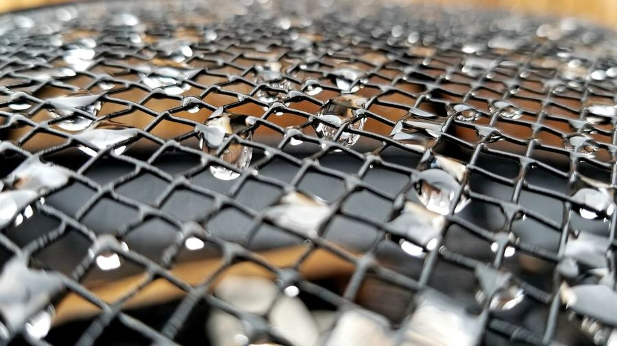 after the rain Grid Water Droplets Waiting Brown Firepit Rain RainDrop Black After The Rain Full Frame Close-up Metal Grate