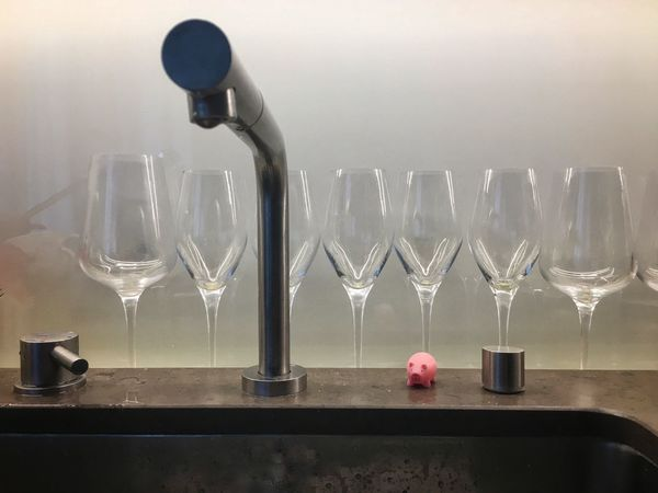 After the party. Glass Refreshment Drink Alcohol Table Glass - Material Indoors  No People Wine Wineglass In A Row Modern Hospitality