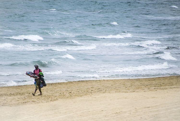 People riding on beach