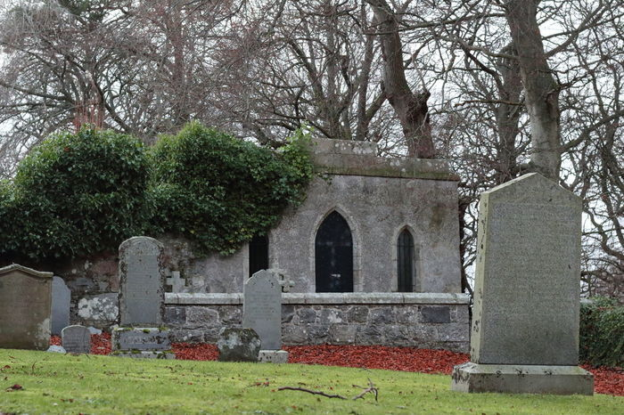 Aberdeenshire Architecture Architecture Cemetery Chapel Churchyard Crooked Teeth Crypt Day Granite Green Color Growth Ivy Kennethmont Kirkyard Leith Hall Nature No People Outdoors Religion Ruins Architecture Scotland Tree Vibrant Color Victorian