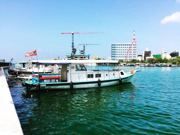 Maldives Transport Jetty Sea And Sky City Malecity