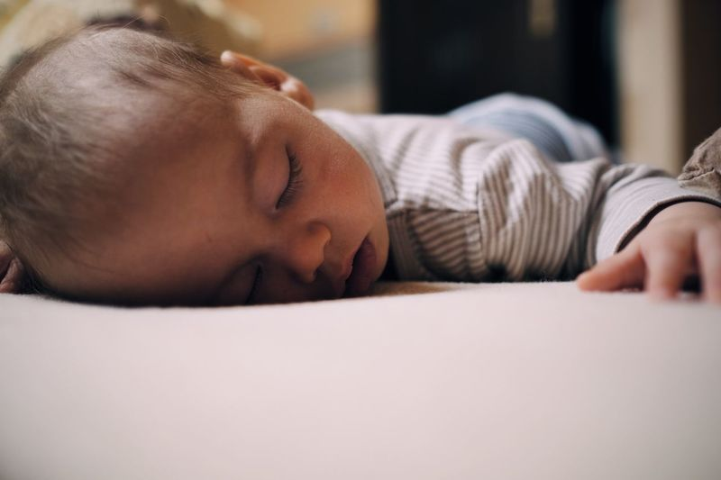 Child Boy Toddler  EyeEm Selects Eyes Closed  One Person Relaxation Sleeping Bed Lying Down Close-up Napping