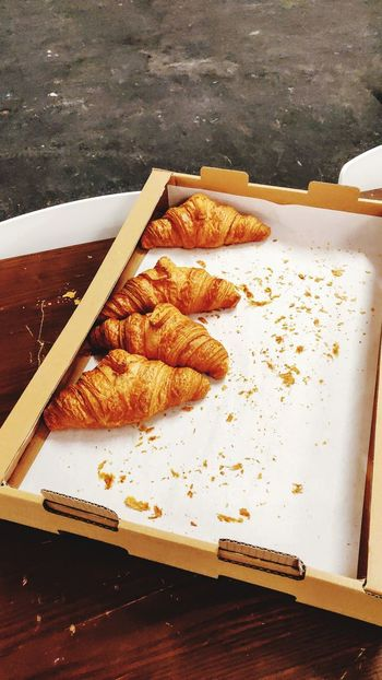 pastries Croissant For Breakfast Croissant Love Photowalktheworld EyeEm Selects Table Close-up Food And Drink Pastry Served Prepared Food Ready-to-eat Serving Size Plate Temptation Leftovers Unhealthy Eating