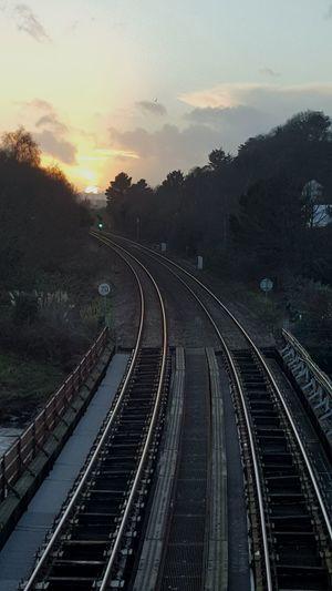 Train Tracks Sunset Trainphotography Traintracks Train Sunset Showcase: January Landscapes With WhiteWall