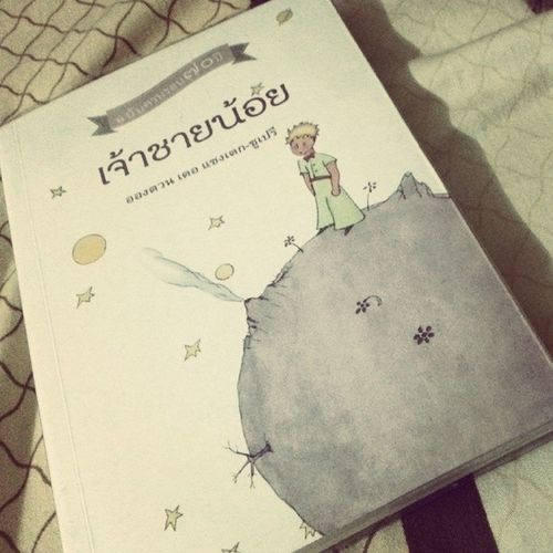 """Le Petit Prince... """"ดอกไม้ของฉันอยู่ที่นั่น บนดวงดาวดวงหนึ่งนั้น"""" ไม่จบสักที จบเถอะ"""