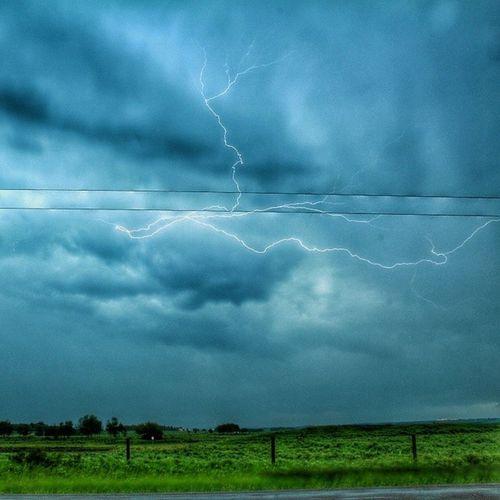 Some lightning from tonight's storm taken near vermilion alberta Abstorm Stormchasing Thunderstorm Abstormchasers alberta coolpic bigsky skyporn lightning