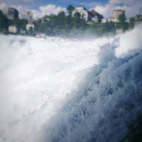Motion Day Water No People Outdoors Nature Wave Crash Power In Nature Beauty In Nature Close-up City Sky Rhinefalls