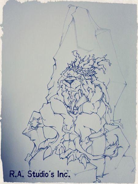 R.A. studio's Inc presents Triple Crown Lion Art