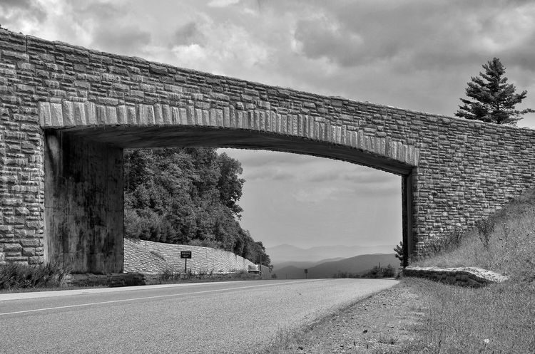 HWY 421 and Blueridgeparkway junction. Nice day for a Motorcycle Ride Architecture Sky Built Structure Cloud - Sky Day Connection Outdoors Bridge - Man Made Structure Road Transportation Arch The Way Forward No People Building Exterior Tree Nature