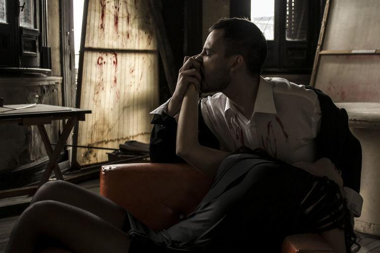 Adult Bite Blood Dark Darkness Dead Depression - Sadness Men Pain People Sad Vampire Young Adult