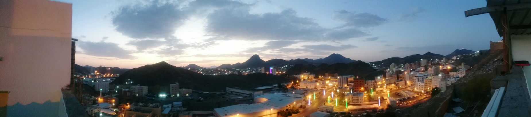 City Scape Sky Scape Panorama Clouds And Sky From My Garden Sony Z2 Photography Early Morning Makkah From My Point Of View Mountains