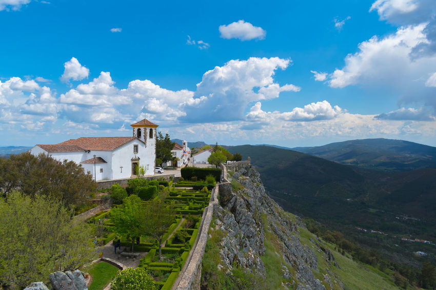 castelo de marvão Architecture Beauty In Nature Building Building Exterior Built Structure Cloud - Sky Day Environment History Landscape Mountain Nature No People Outdoors Plant Scenics - Nature Sky The Past Travel Travel Destinations Tree