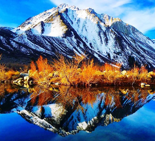 The Great Outdoors - 2016 EyeEm Awards IPhoneography Convict Lake CA Life Reflection Beauty