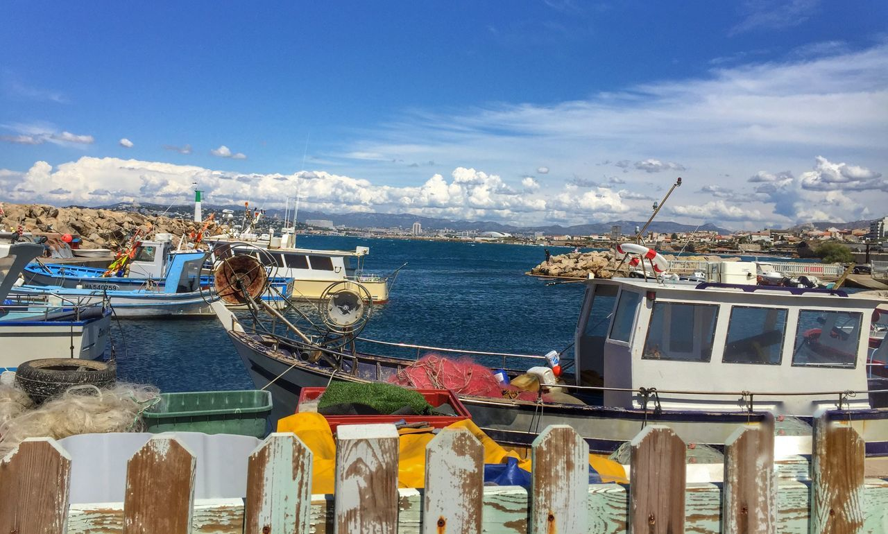 nautical vessel, water, sea, sky, transportation, mode of transport, boat, cloud - sky, moored, day, outdoors, harbor, nature, horizon over water, scenics, no people, beauty in nature, mountain