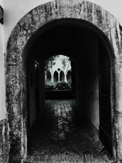 Arch Built Structure Architecture The Way Forward Entrance Door Corridor Day Entry Indoors  No People Convento Old