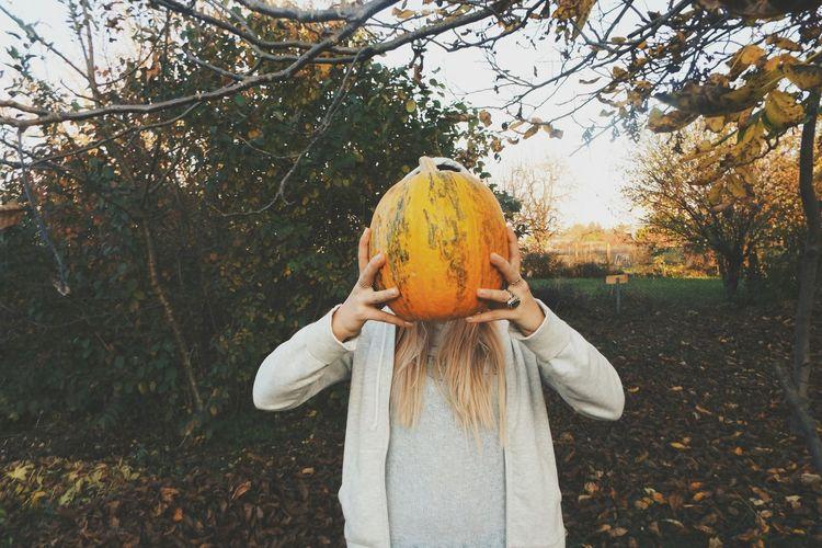 Pumpkin 🎃 Autumn Outdoors One Person Nature Tree Enjoying Life Travelphotography Pumpkin No Face