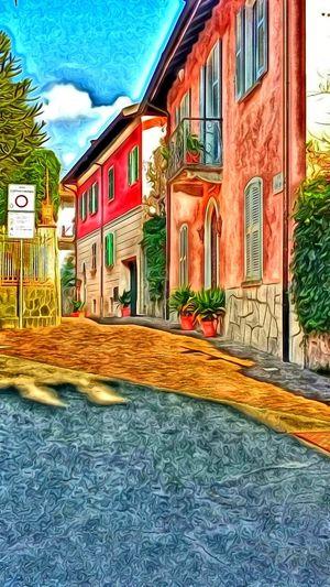 Belgirate Lago Maggiore Digital Painting
