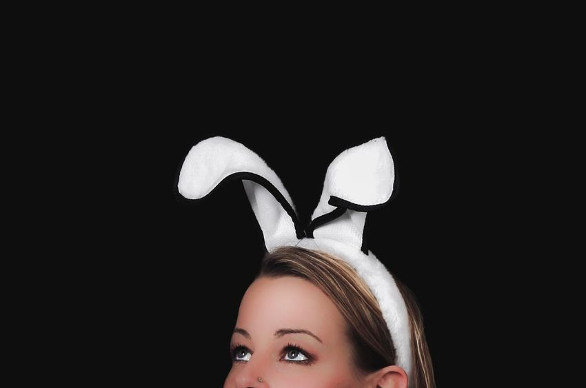 - FIRST EASTER FITTING - Copy Space Portrait Black Background Headshot Fun One Person Happiness People Only Women Young Adult Cheerful Beauty One Woman Only Young Women One Young Woman Only Easter Ready Easter Bunny Bunny  Close-up Close Up Floppy Ears Women Around The World BYOPaper! The Portraitist - 2017 EyeEm Awards