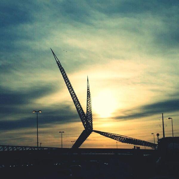 Oklahoma City Skydancebridge Near And Far