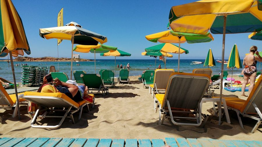 The Essence Of Summer Malia Malia Beach Beach Photography Sunloungers Sunlight ☀