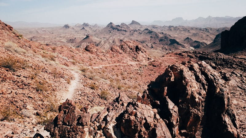 Rugged Beauty Rugged Terrain Rugged Mountains View Expansive Desert Mojave Desert Mojave Hiking Hiking Adventures Lake Havasu Haze Another World Rock Rocky Geology