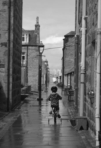 B&w Street Photography Footdee Aberdeen
