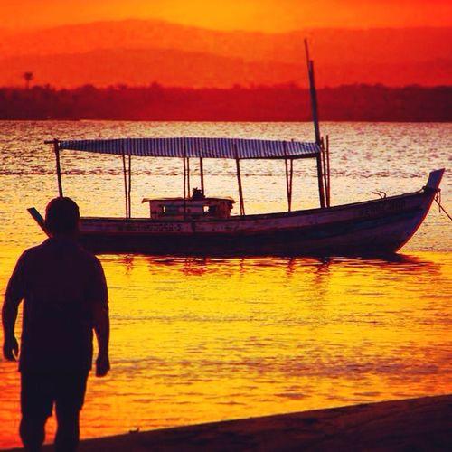 Sunset Sun Beach Brazil Sol Pordosol Praia Bahia Brasil ♥