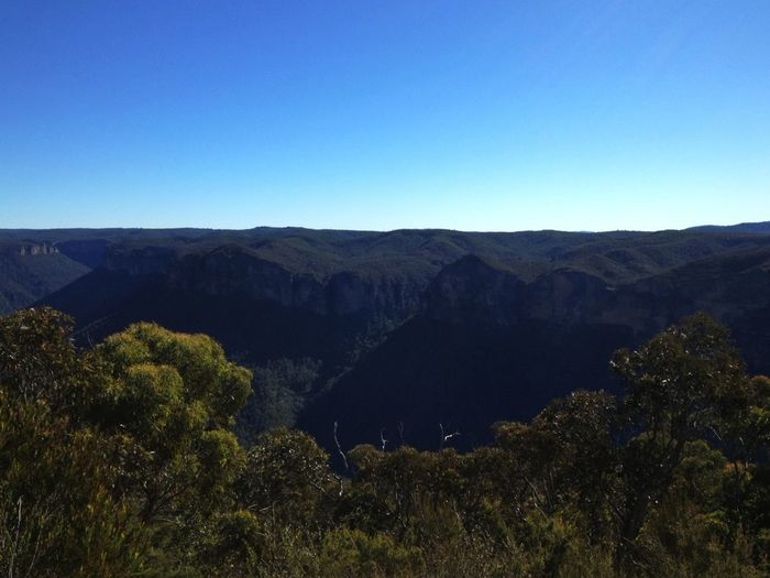Blue, blue skies and blue, blue mountains. #Sydney #iseebeauty