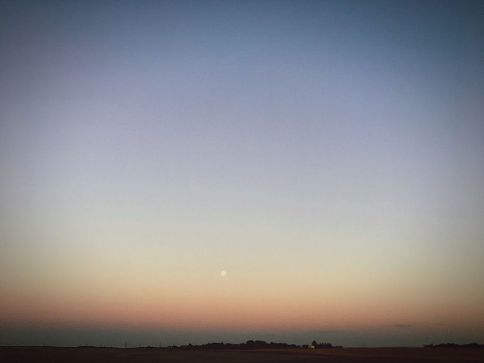 Tranquil Scene Nature Sunset Beauty In Nature Scenics Tranquility Sky No People Outdoors Landscape Clear Sky Field Moon Night Astronomy