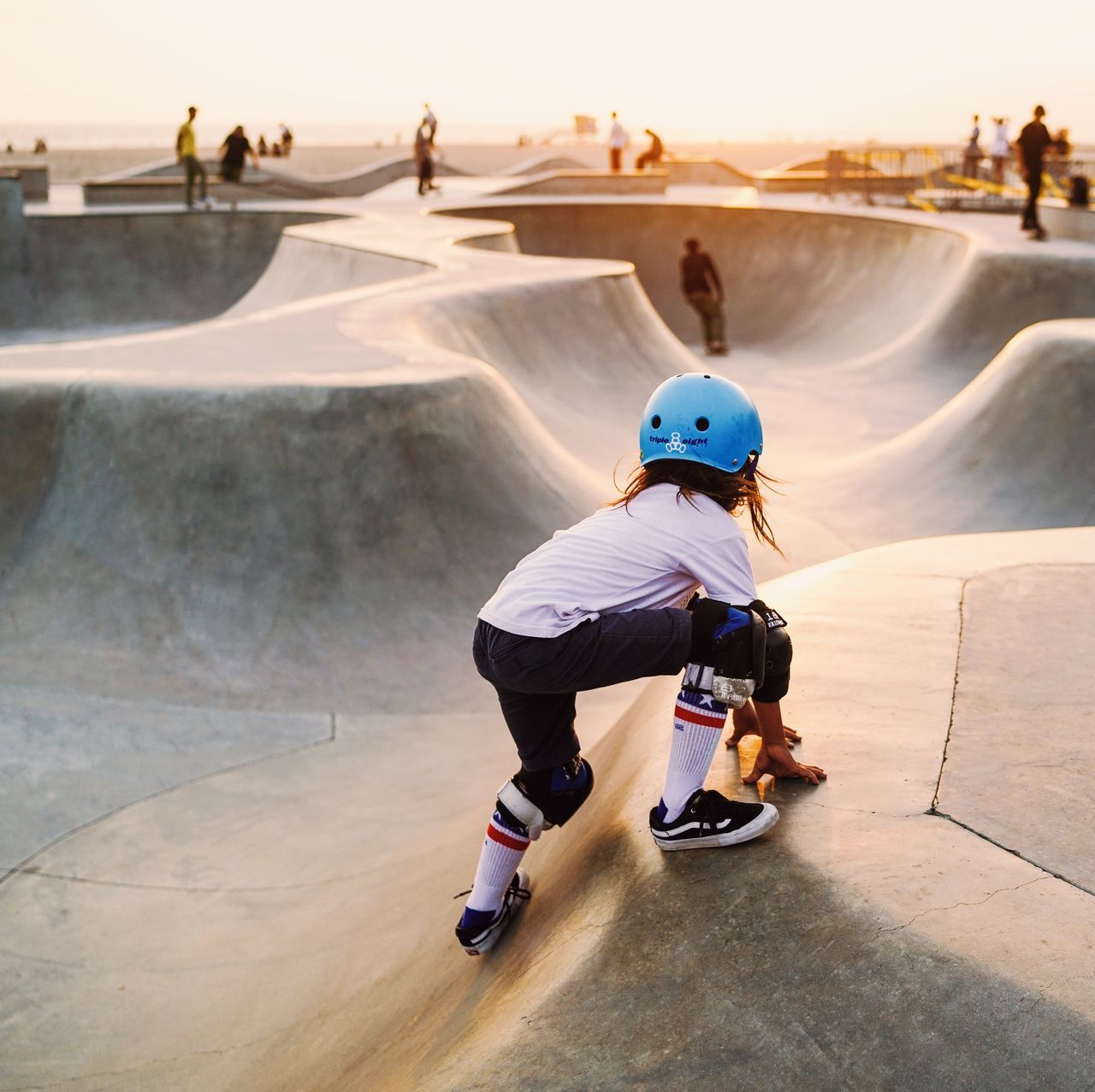 real people, leisure activity, full length, lifestyles, childhood, incidental people, one person, skateboard park, day, casual clothing, skateboard, skill, boys, weekend activities, adventure, outdoors, water, sport, extreme sports, sky, people