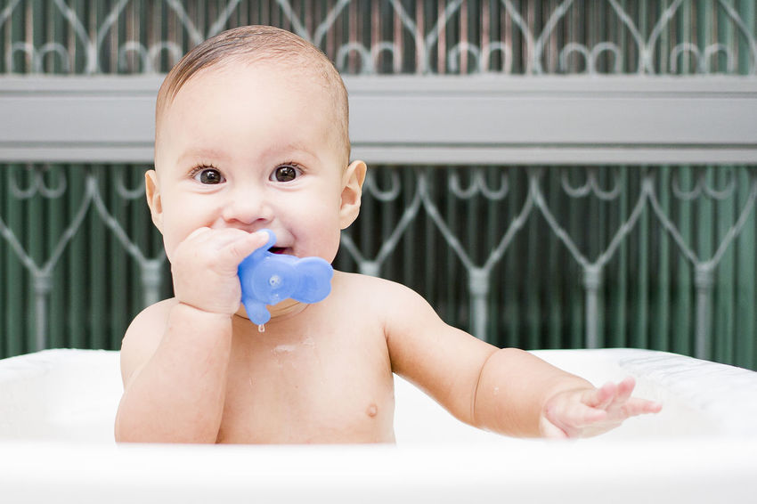 Bath time Babies Only Baby Bathtube Boy Childhood Cute Domestic Life Door Eyes Eyes Watching You Face Front View Glass Indoors  Kid Looking At Camera One Person People Person Portrait Shirtless Sitting Toddler  Toy