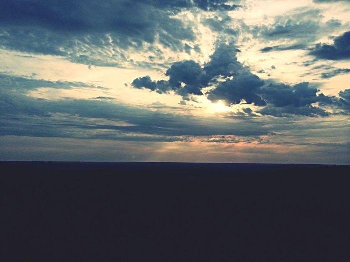 See ya Kansas! Scenic Kansas Sun Clouds