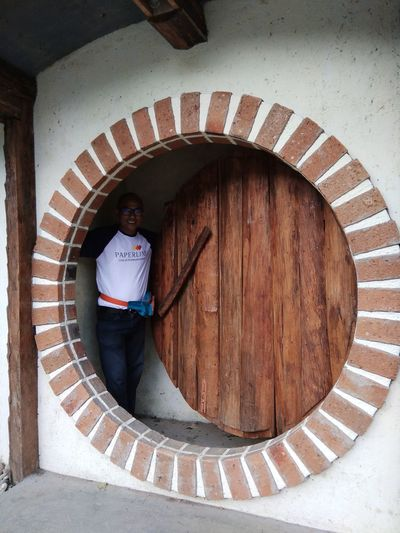 Hobbit House Man Full Length High Angle View