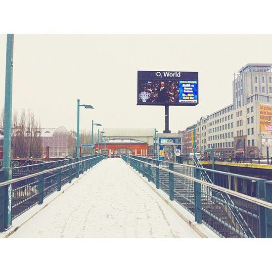 Winterwonderland #berlin #warschauerbrücke #snow #winter Berlin Winter Snow Warschauerbrücke