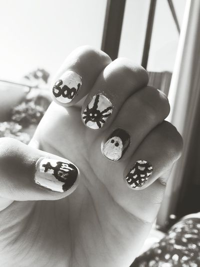 Halloween Horrors Nails 4 Halloween! Boo! Ghost Spider