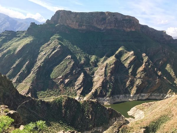 Gran Canaria Artenara Mountain Nature Landscape No People Day Beauty In Nature Outdoors Tranquility Scenics Tranquil Scene Mountain Range Sunlight Physical Geography Sky Water