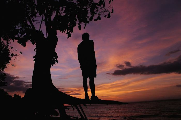 To be alone is to muster strength Sunset Silhouette Dusk Night Sky Outdoors Cloud - Sky Beach Nature Travel Destinations EyeEm Photographyislife EyeemPhilippines MyPhotography Philippines Photography Eyeem Philippines Bacolod Dusk At The Beach Dusk Sunset Twilight Silhouette One Man Only Be. Ready.