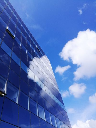 Built Structure Building Exterior Blue Sky Sky And Clouds Minimalism Abstract Abstract Photography Reflection City Life Architecture Modern Futuristic Business City Corporate Business Blue Skyscraper Office Building Exterior Office Building Tower The Architect - 2018 EyeEm Awards #urbanana: The Urban Playground