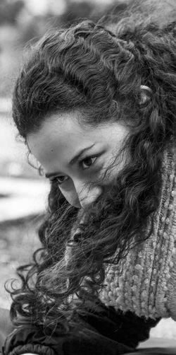 Bnw_captures Bnw_collection Bnw_life Bnw_society Bogotá Close-up Colombia EyeEm Best Shots EyeEm Gallery Eyeemcollection Focus On Foreground Headshot Human Hair Joy Joyful Outdoors People And Places People And Places. Portrait Of A Woman