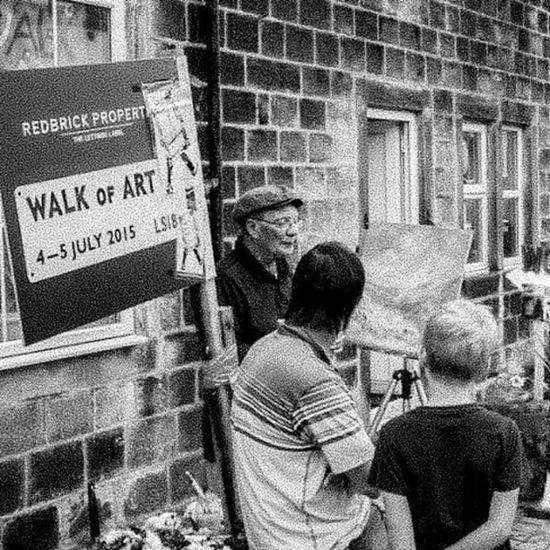 A painter shows his art Horsforthwalkofart Horsforth Walk Art photography leeds leedslife mono instagrammers igers igersleeds i_love_leeds yorkshire UK city loveleeds iloveleeds igers_uk igers_yorkshire igersengland igers_england England