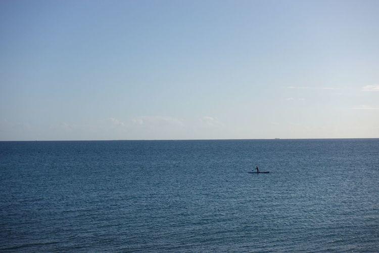 Sailing in Nouméa, New Caledonia Paddleboarding Sup New Caledonia Melanesia Noumea Ocean Horizon Over Water Horizon Outdoors
