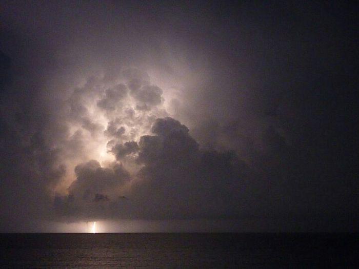 temporale sul mar dei caraibi Sea Sunset Nature Sky Storm Relaxing