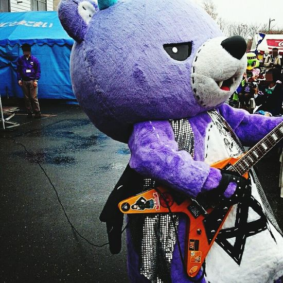 Hokkaido,Japan Mascot Characters Of JAPAN ご当地キャラ Guitarist He is name AKKUMA.