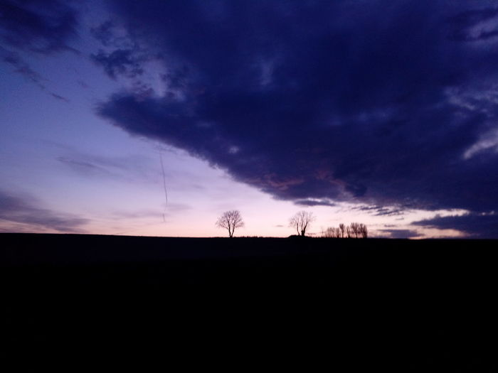 Tree Sunset Storm Cloud Rural Scene Silhouette Technology Field Agriculture Electricity Pylon Dramatic Sky