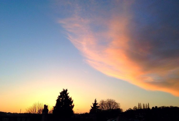 Sunset Skyline London Clouds And Sky