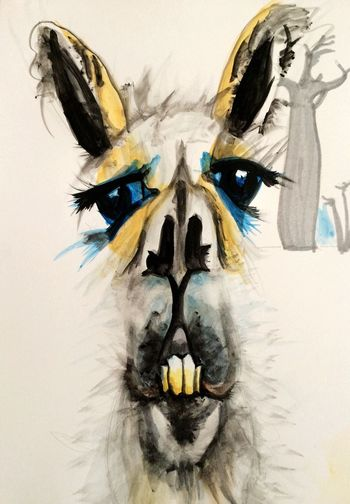 Llama, lol. Painting Art Art, Drawing, Creativity