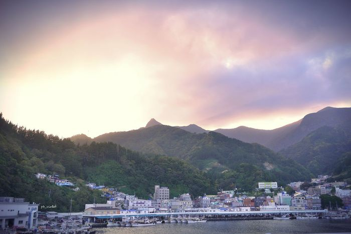Landscapes With WhiteWall Sea Port Ship Sky Clouds Landscape Travel Mauntain Sunset South Korea 울릉도 바다 항구 D800