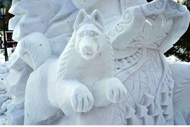 Wolf Snow Winter Novosibirsk Festival волк фестиваль Новосибирск снежные фигуры фестиваль