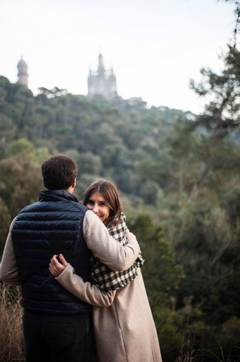 Montains    Tibidabo Barcelona EyeEm Selects Two People Togetherness Love Women Couple - Relationship Adult Emotion Heterosexual Couple Men Tree Young Women Positive Emotion Young Adult Rear View Clothing Young Couple Romance